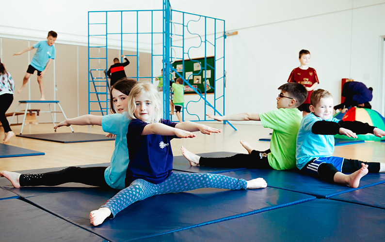 gymnastics pairs stretching