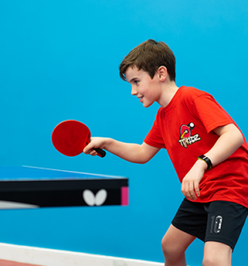table tennis boy playing