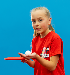table tennis girl bat ball