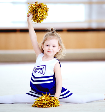 Cheerleading young girl uniform 353x378 1
