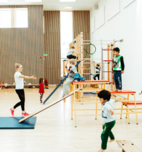 gymnastics activities 1 with Premier Education