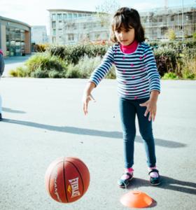 Basketball Gallery Child passing basketball