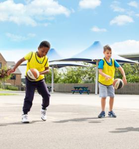 Basketball Gallery Children dribbling basketballs