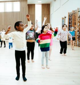 Dance Gallery Children dancing in a hall